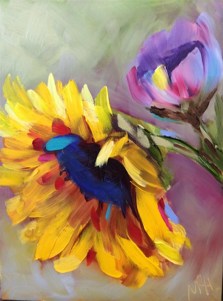 """""""You are My Sunshine"""" original fine art by Molly Rohrscheib Hathaway"""