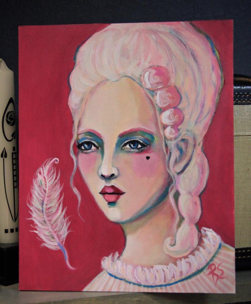 """La Plume Blanche"" original fine art by Roberta Schmidt ArtcyLucy"