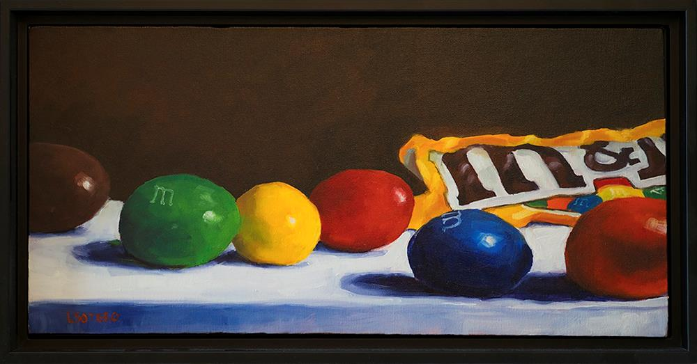 """Peanut M&M's"" original fine art by Lisa Sotero"