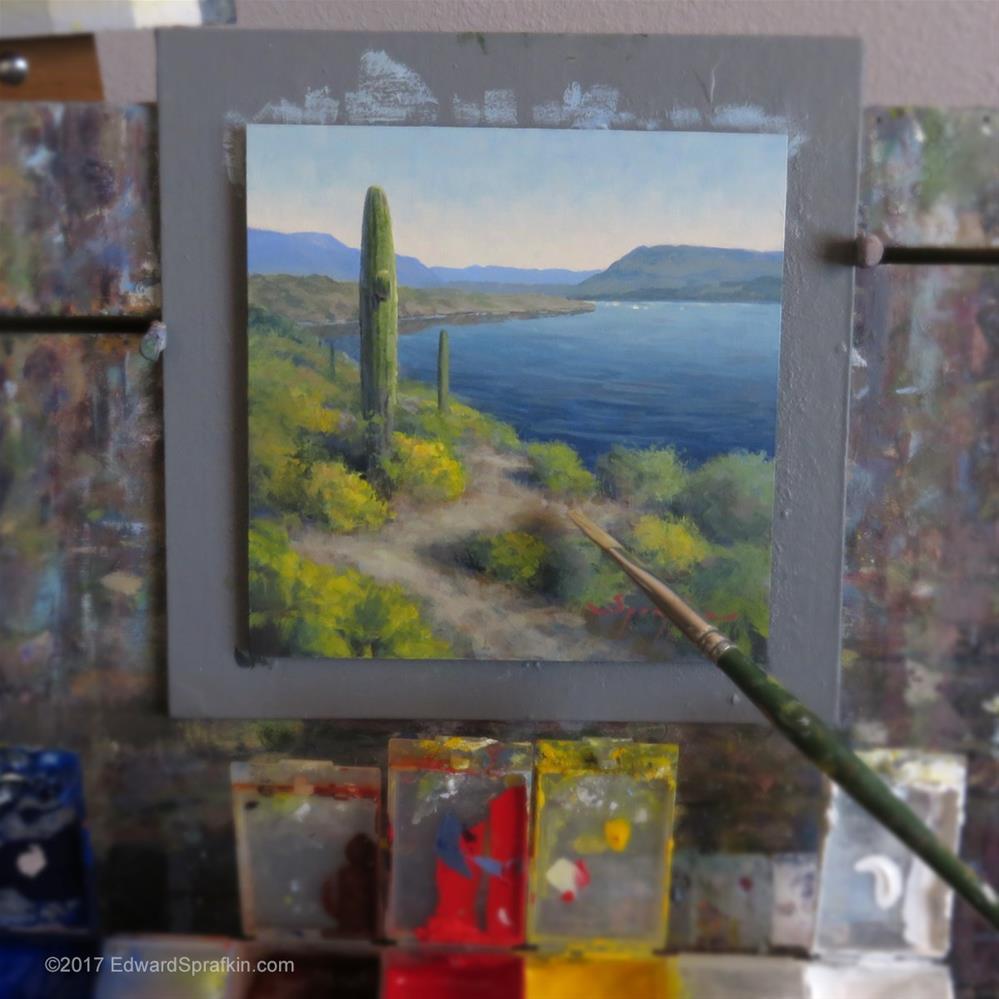"""Lake Pleasant Path"" original fine art by Edward Sprafkin"