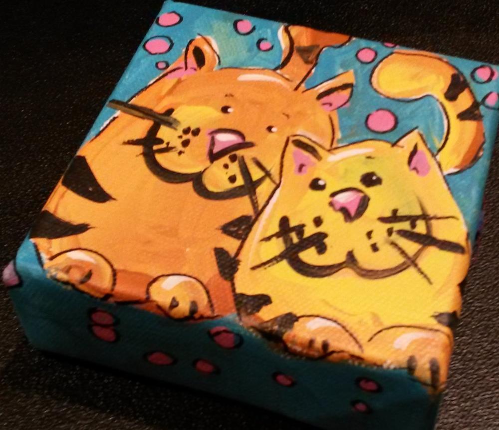 """""""Chunky Kitties"""" original fine art by Terri Einer"""