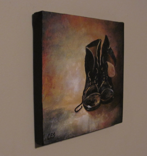 """Old Boots"" original fine art by ~ces~ Christine E. S. Code"