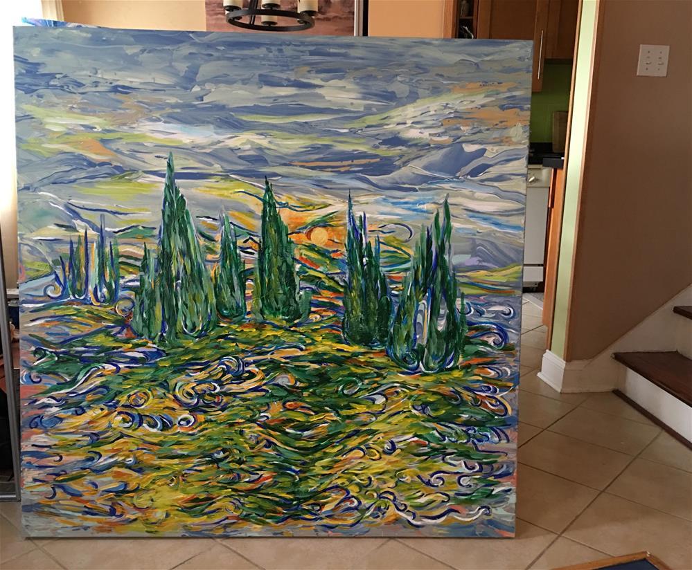 """Cypresses"" original fine art by Khrystyna Kozyuk"