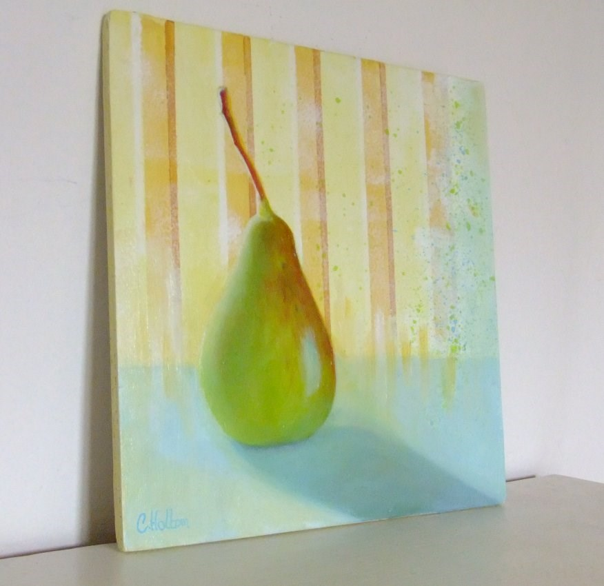 """""""Early morning Pear"""" original fine art by Cathy Holtom"""
