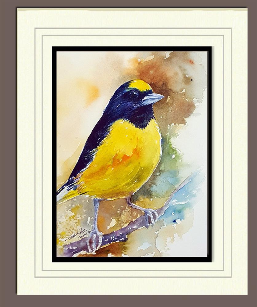 """Yellow and Black"" original fine art by Arti Chauhan"