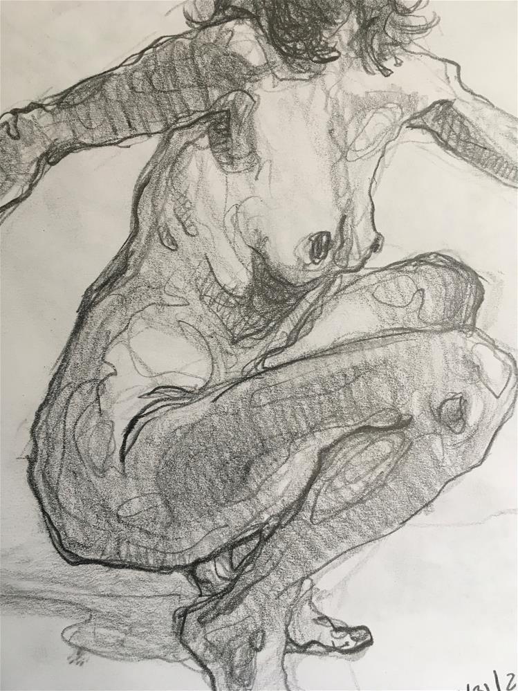 """Figure86"" original fine art by Katya Minkina"