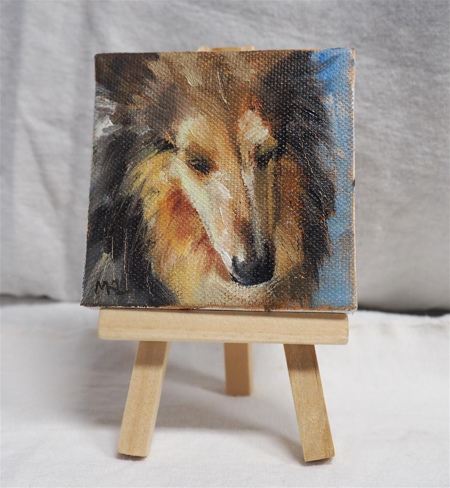 """Long Nosed Collie"" original fine art by Marlene Lee"