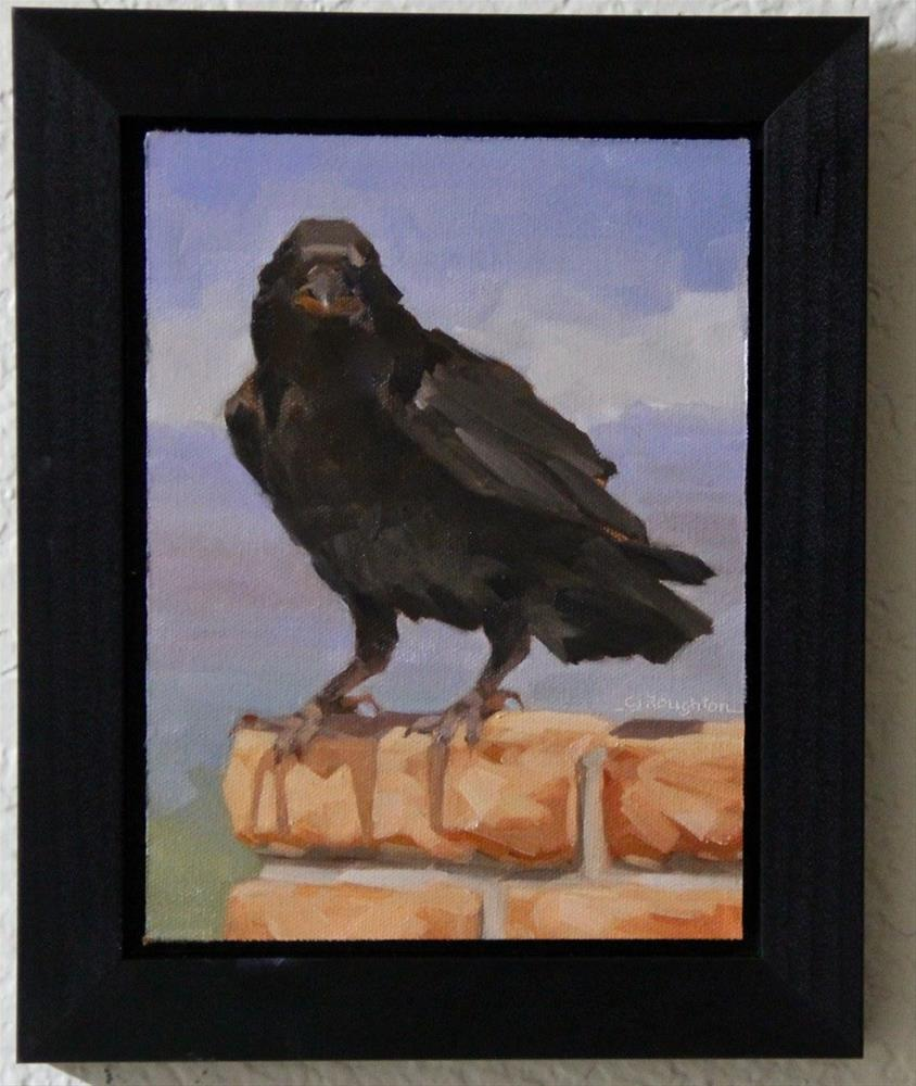 """The Raven Challenge Watch"" original fine art by C J Roughton"