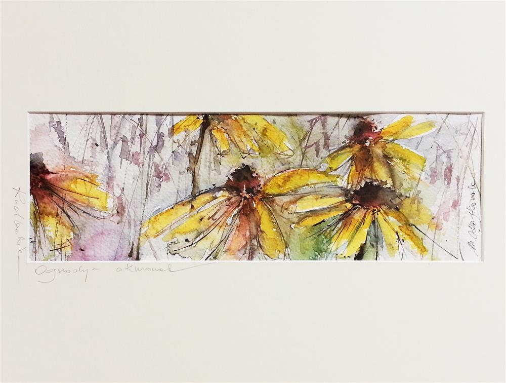 """Rudbeckie 5"" original fine art by Marlena Czajkowska"