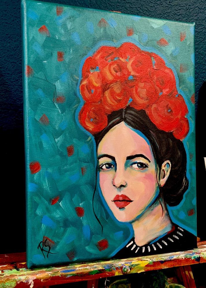 """""""Her Crown of Flowers"""" original fine art by Roberta Schmidt ArtcyLucy"""