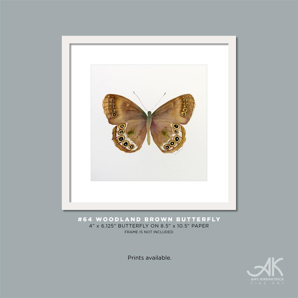 """#64 Woodland Brown Butterfly #0374"" original fine art by Amy Kirkpatrick"