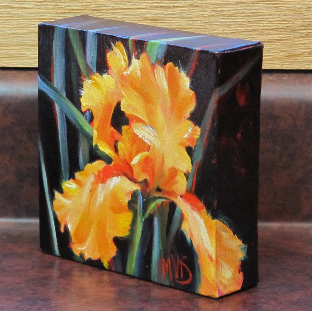 """Golden Iris"" original fine art by Mary Van Deman"