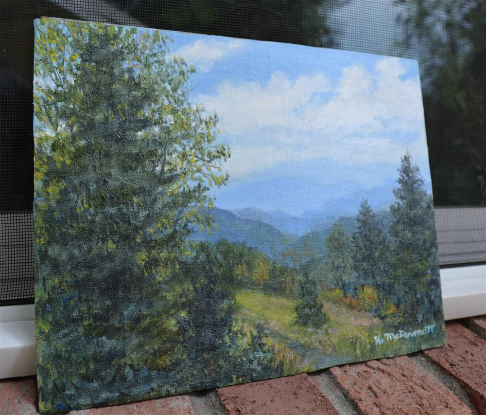 """Smokey Mountain Overlook"" original fine art by Kathleen McDermott"