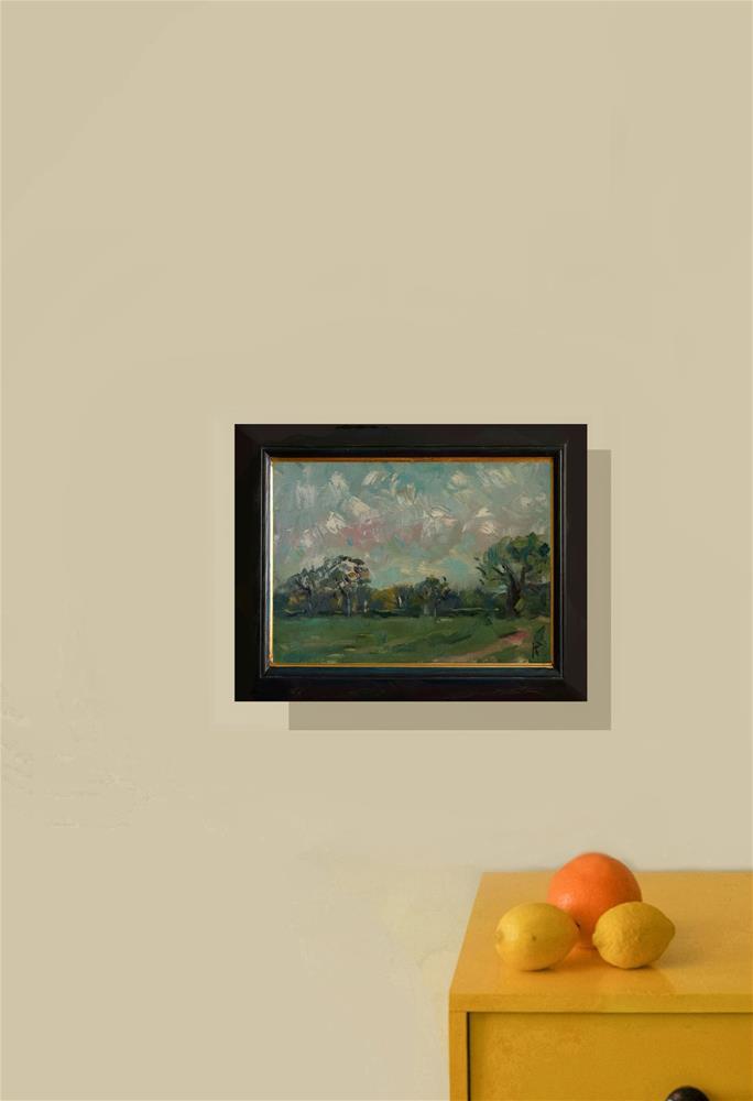 """""""Oak Tree in Field"""" original fine art by Andre Pallat"""