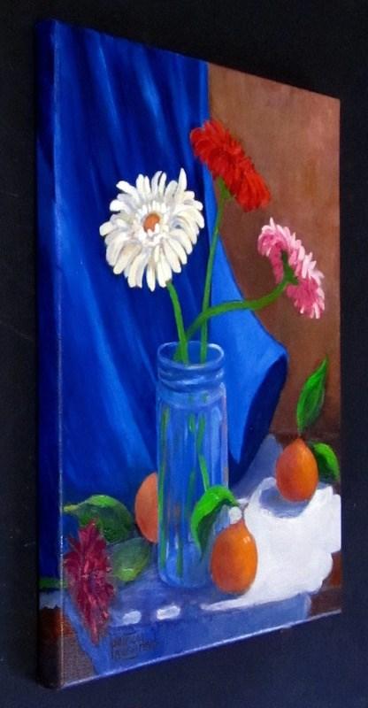 """Fruit 'n' Flowers"" original fine art by Patricia Musgrave"
