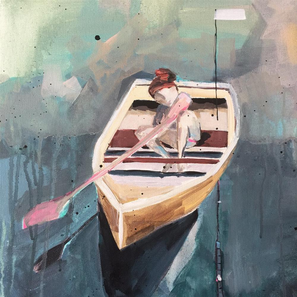 """454 Oar Girl"" original fine art by Jenny Doh"