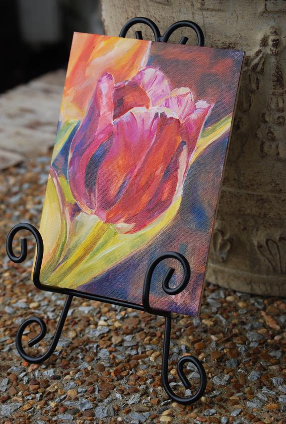 """Easter Ruffles"" original fine art by Carol DeMumbrum"