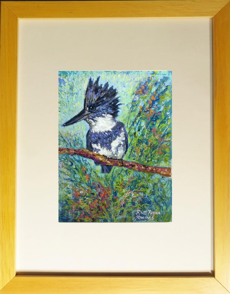 """Kingfisher"" original fine art by Rhett Regina Owings"