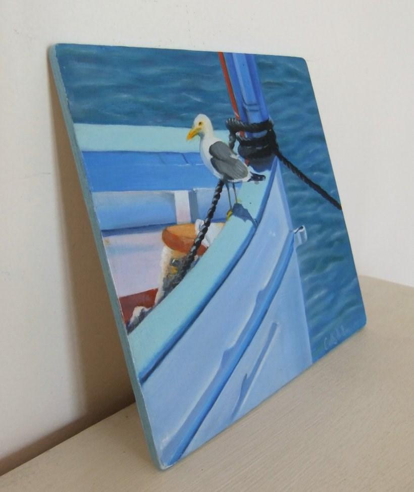 """Gone Fishing"" original fine art by Cathy Holtom"