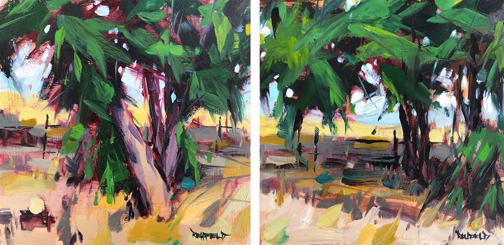 """Desert Trees Grow Wild 1"" original fine art by Cathleen Rehfeld"
