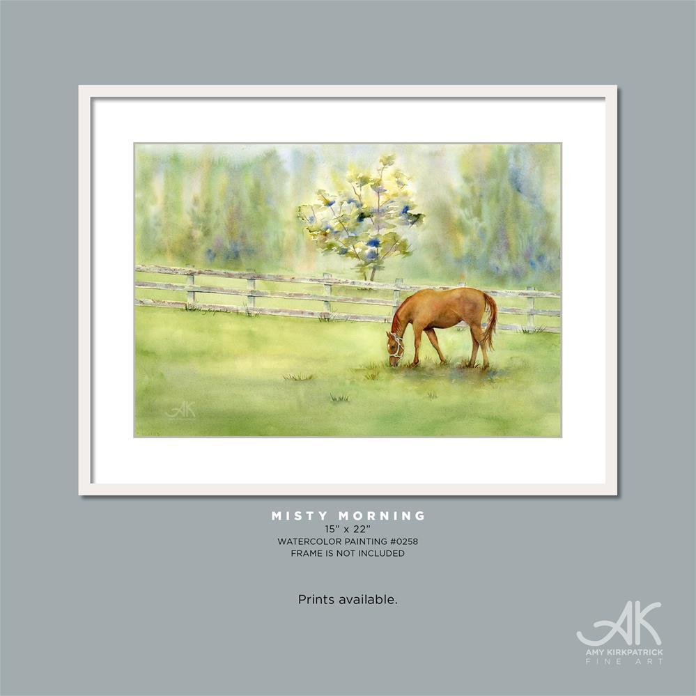 """""""MISTY MORNING #0258"""" original fine art by Amy Kirkpatrick"""