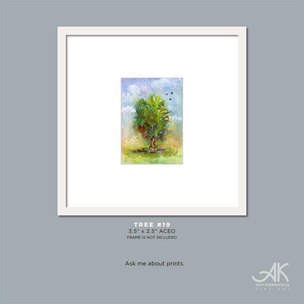 """TREE #19 (ACEO) #0668"" original fine art by Amy Kirkpatrick"
