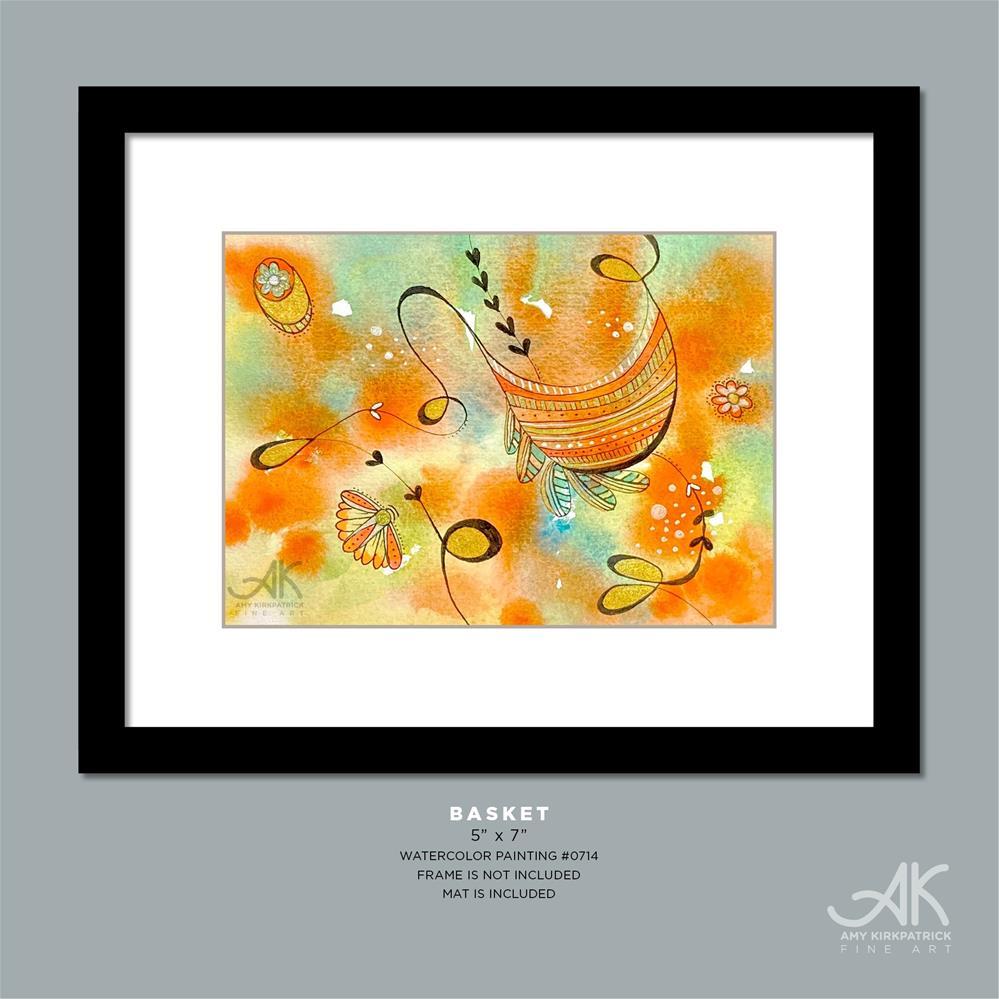 """BASKET #0714"" original fine art by Amy Kirkpatrick"
