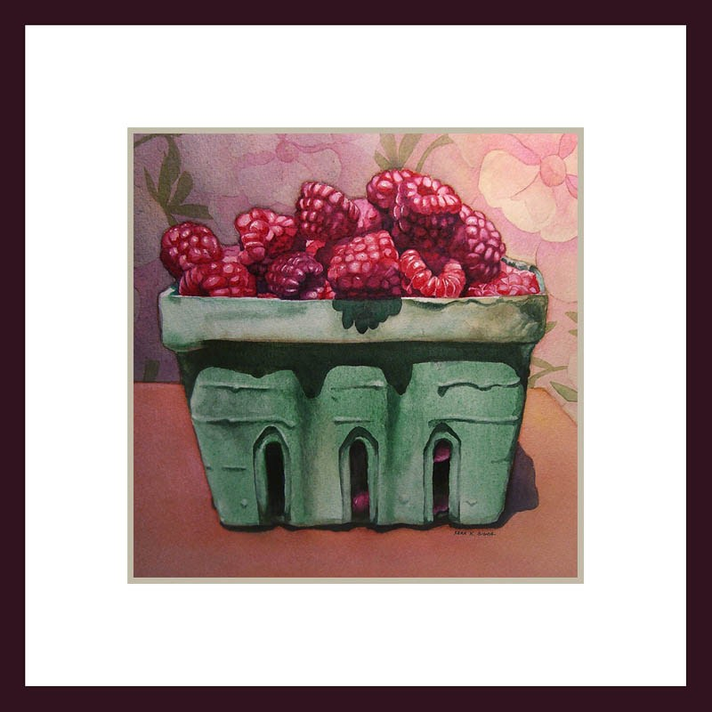 """Raspberries"" original fine art by Kara K. Bigda"