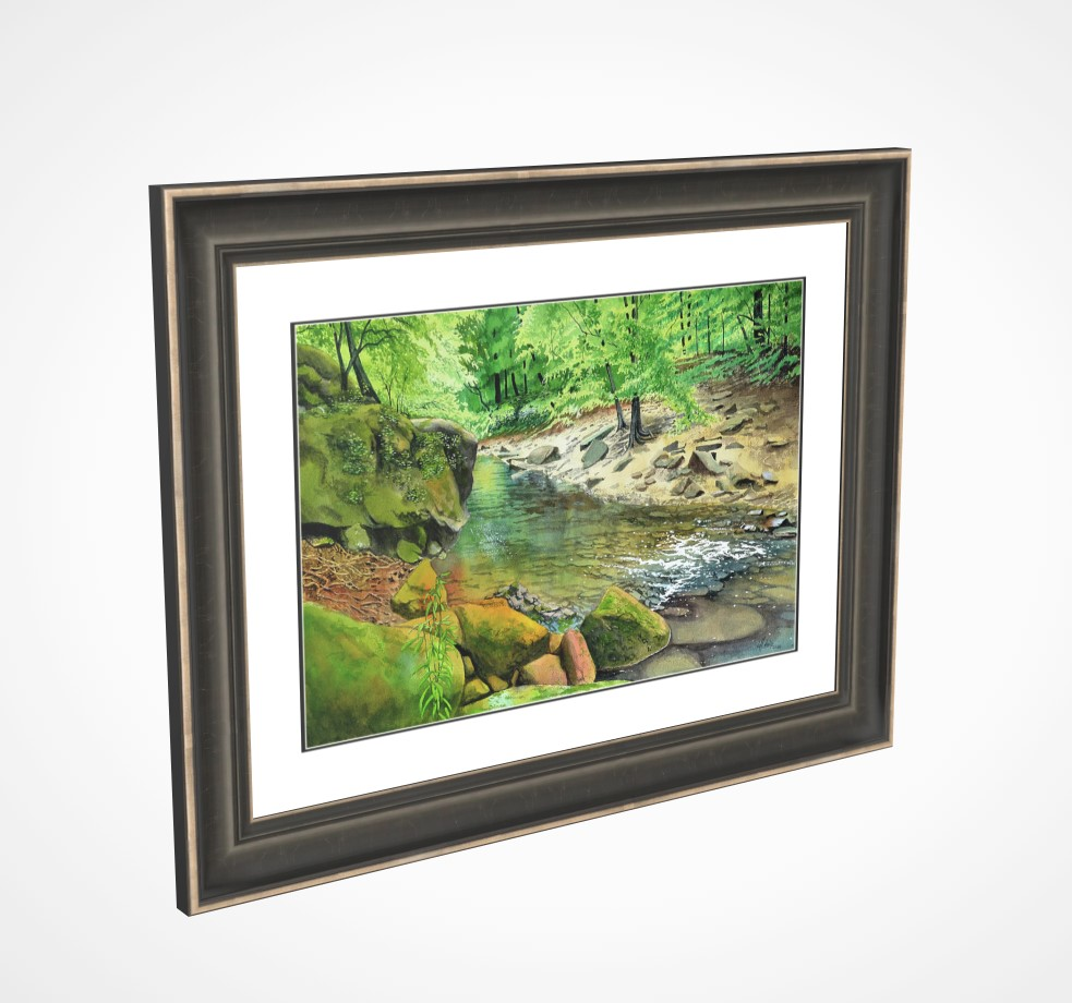 """Bankhead Creek"" original fine art by Jeff Atnip"