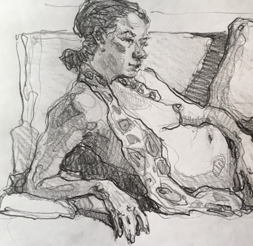 """Figure81"" original fine art by Katya Minkina"