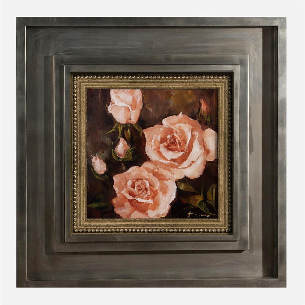 """Peach Rose 02"" original fine art by Teresa Yoo"