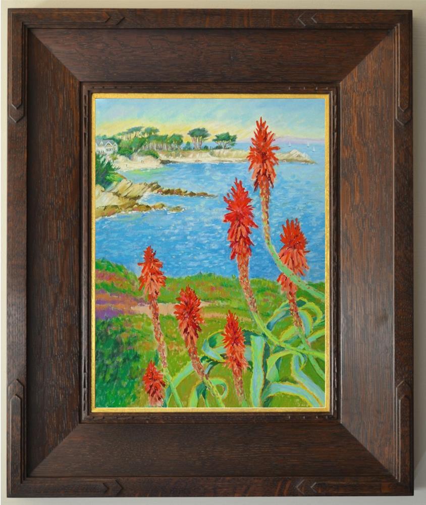 """""""Blooming Aloe Vera in Pacific Grove"""" original fine art by Rhett Regina Owings"""