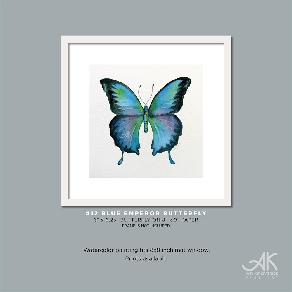 """""""#12 Blue Emperor Butterfly #0321"""" original fine art by Amy Kirkpatrick"""