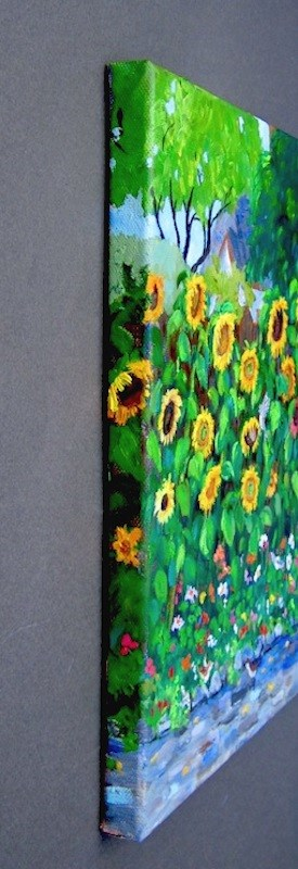 """""""Storybook Sunflowers"""" original fine art by Patricia Musgrave"""