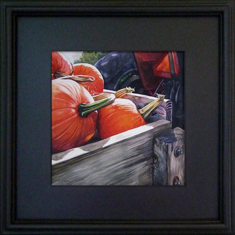"""Pumpkin Cart"" original fine art by Kara K. Bigda"