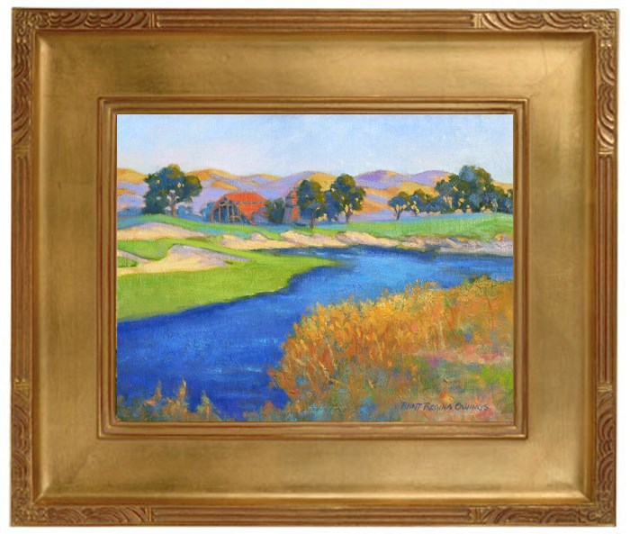 """Golf Course Barn"" original fine art by Rhett Regina Owings"