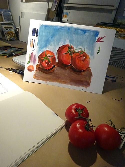 """""""1881 Training Tomatos"""" original fine art by Dietmar Stiller"""