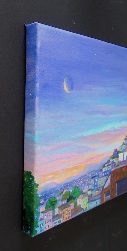 """""""Dusk, Lima, Peru"""" original fine art by Patricia Musgrave"""