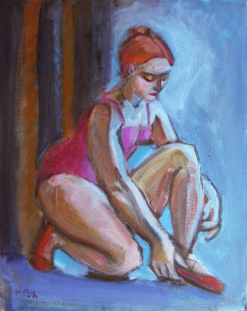 """Ballerina, figurative study, figure painting of woman dancer, figuration"" original fine art by Marie Fox"