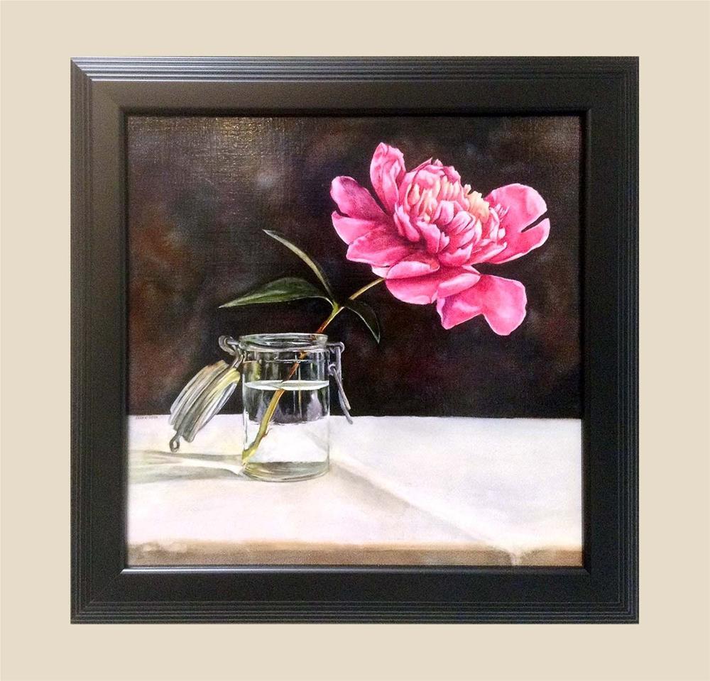 """""""Peony in Glass"""" original fine art by Kara K. Bigda"""