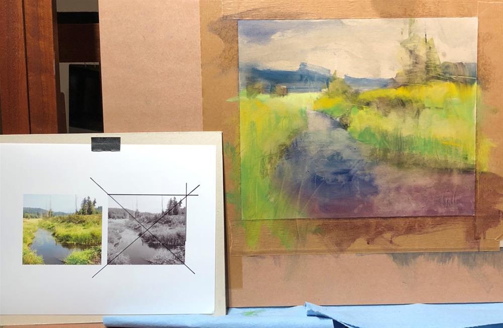 """Meadow Stream "" original fine art by Barbara Benedetti Newton"