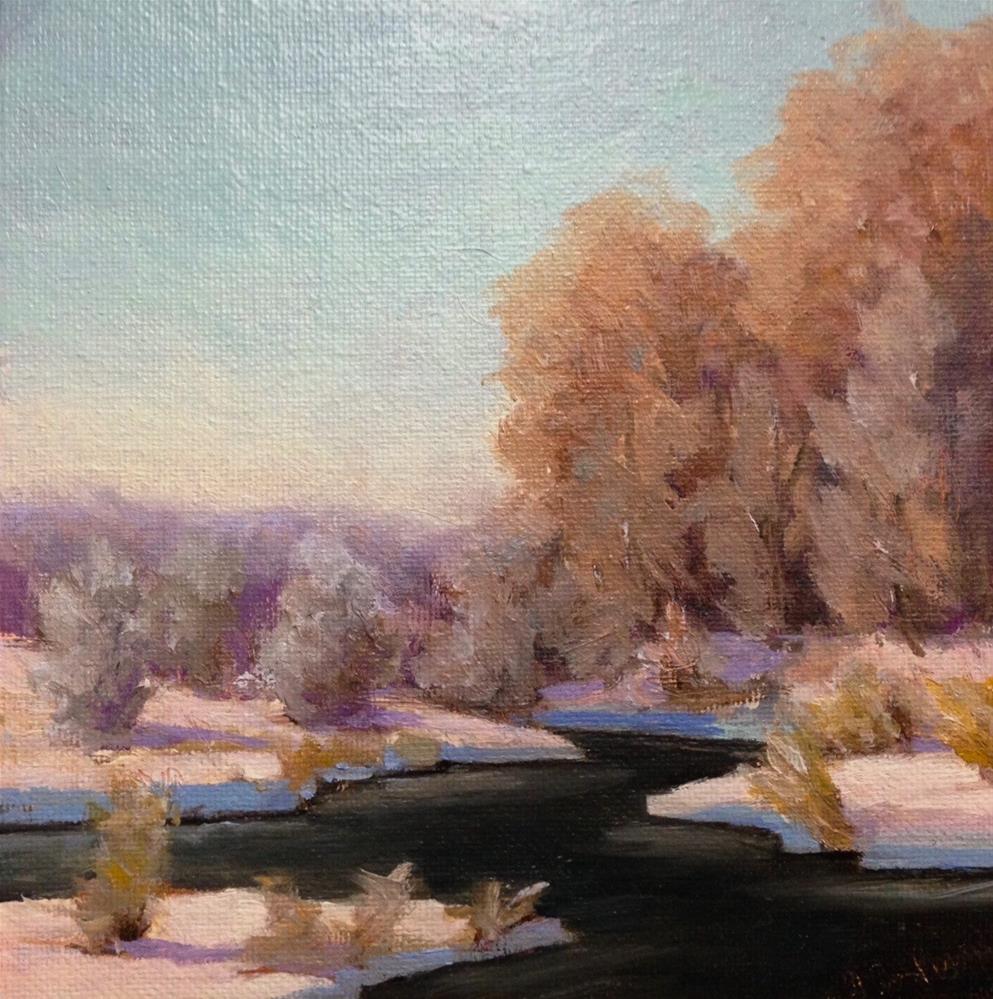 """Lilydale winter"" original fine art by Judith Anderson"