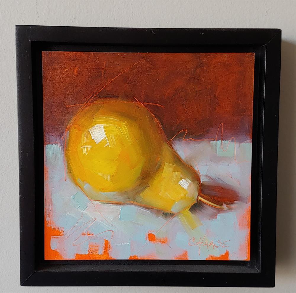 """Reclining Pear"" original fine art by Cindy Haase"