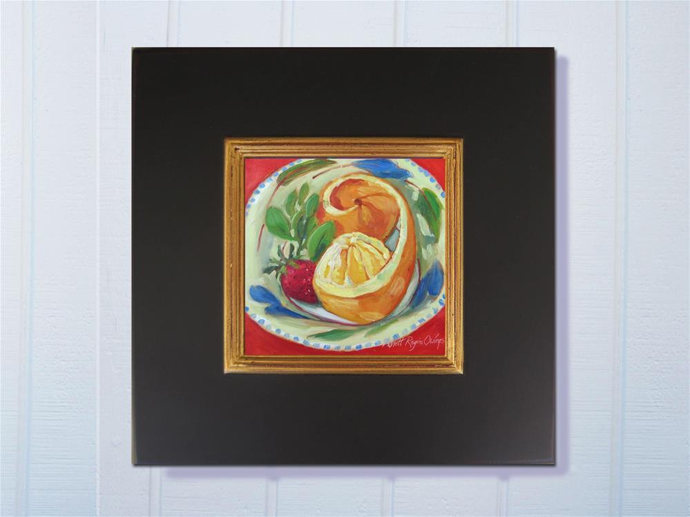 """Orange Peeled"" original fine art by Rhett Regina Owings"