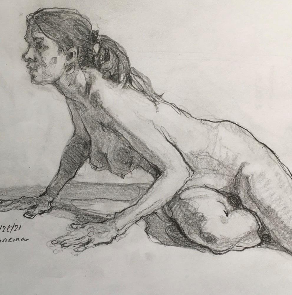 """Figure85"" original fine art by Katya Minkina"