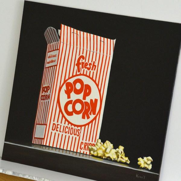 """Fresh Popcorn"" original fine art by Kim Testone"
