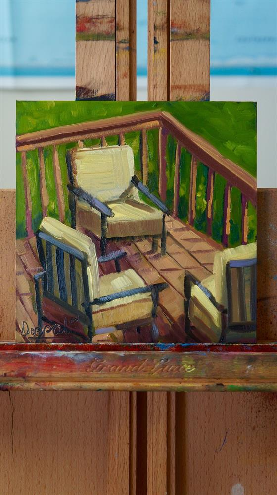 """Chairs"" original fine art by Dipali Rabadiya"