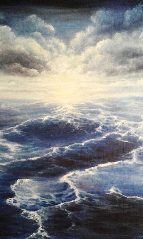 """Oil Painting Seascape"" original fine art by Camille Morgan"
