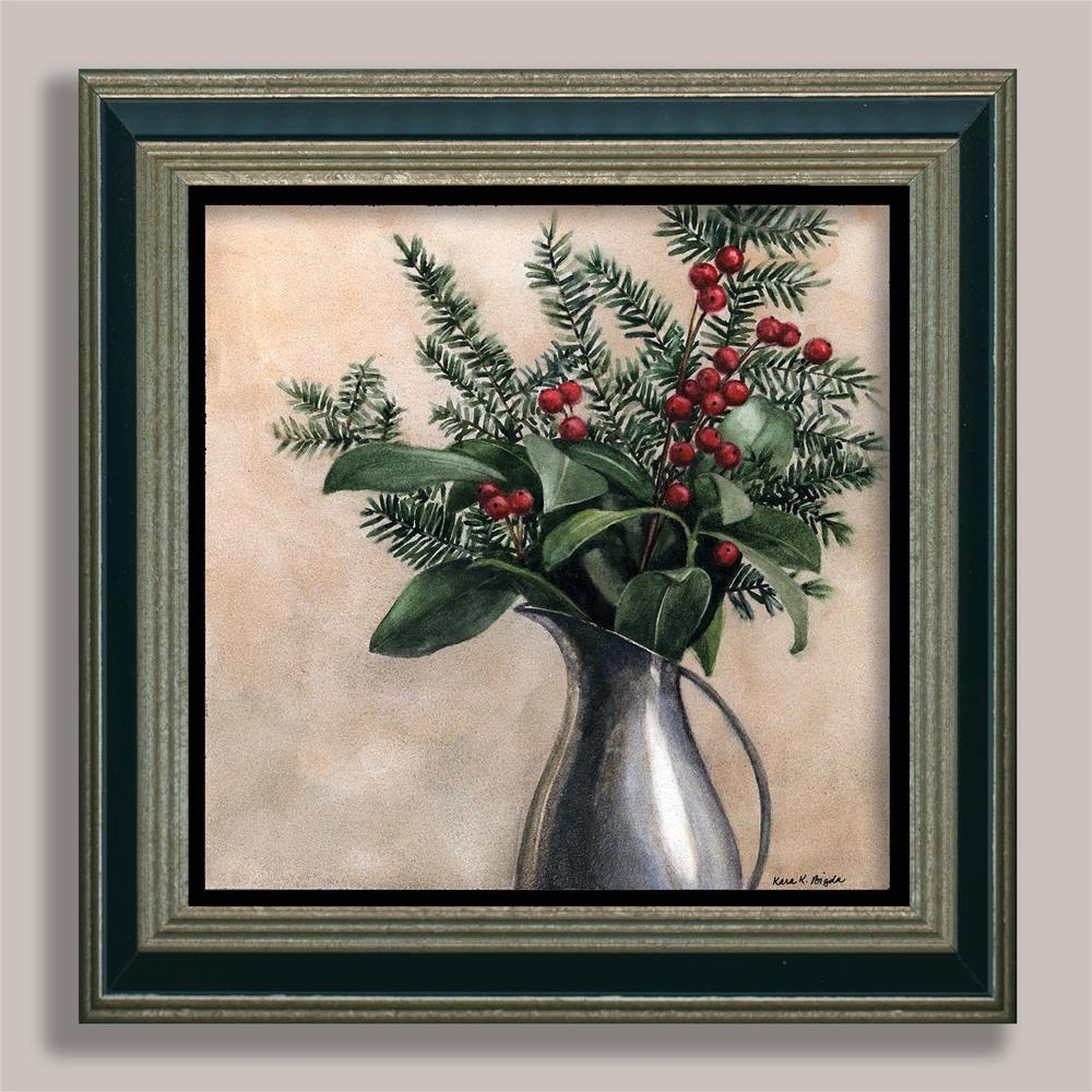 """Berries in Pewter"" original fine art by Kara K. Bigda"