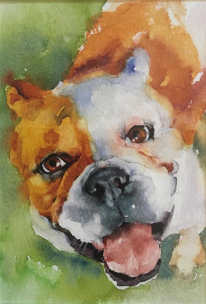 """Adopt275-watercolor"" original fine art by Katya Minkina"